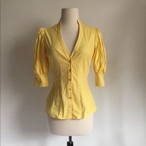 BEBE Puff Sleeve Button Up